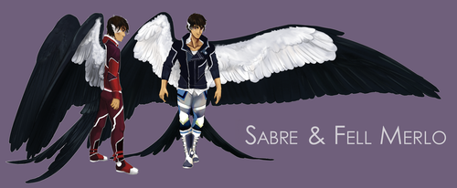 SB: Sabre and Fell by Blue-Hearts
