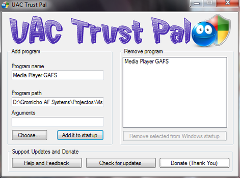 UAC Trust Pal by gromichoafsystems