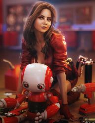 Bot Engineer, Cute Fantasy Woman 3D-Art, DS Iray by shibashake