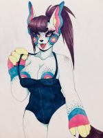 Furry Mama In Swimsuit by OcTentAya