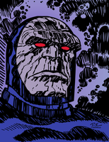 Bruce Timm Darkseid (Inks and Color) by LeevanCleefIII