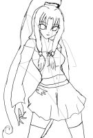 .Airia. -lineart- by Coco-Apple