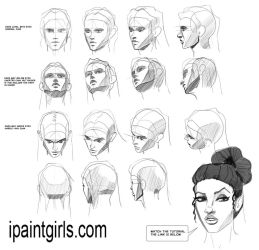 Heads faces angles tutorial by discipleneil777