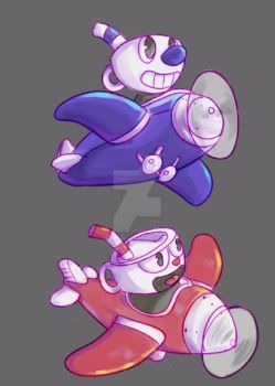 CUPHEAD-Planes by Deadclub