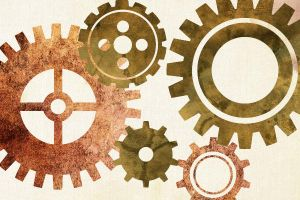 gears vector stock by Pandablubb