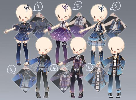 [closed] Adoptable: Outfits X by ZylenXia