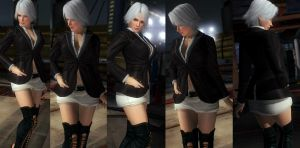 Christie white skirt by funnybunny666