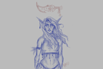 Night Elf (WIP/Sketch) by DCLX-VI