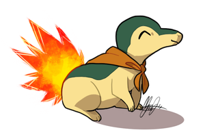 Prize Art: Indie the Cyndaquil