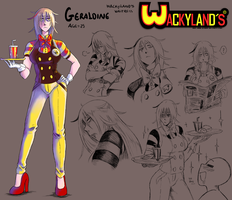 Geraldine official character design by Patt-Fry