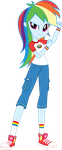 Legend of Everfree: Camper Rainbow Dash by ImperfectXIII