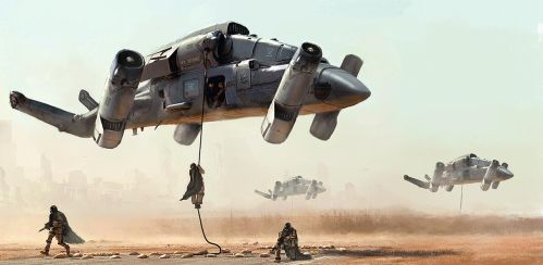 Military transport drone by LMorse