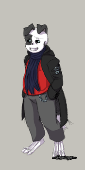 Gaster's loyal puppy. by GhostLiger