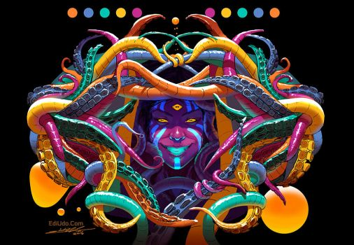 Psychedelic Tentacles by EdiUdoArt