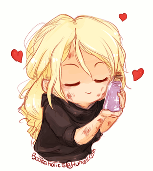 Celaena and her Lavender Soap by bookaholic5