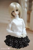 turtle neck and layered skirt by chun52
