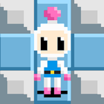 Bomberman - White (animated with BG) by ValChaon