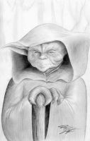 Star Wars - Yoda Original Sketch by DenaeFrazierStudios