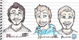 Mark Jack and Pewds by Evertooth