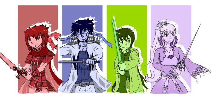 4 Swords: Cosplay edition by Hyper-Knux
