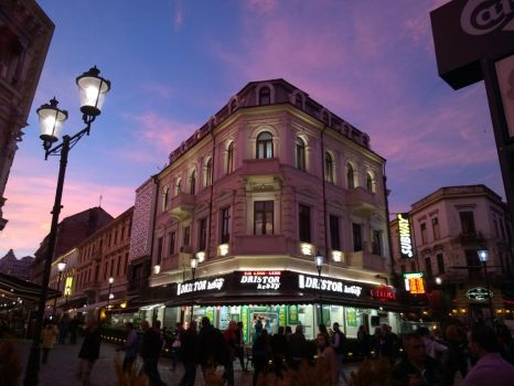 Sunset in Bucharest old city by CORinAZONe