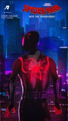 Poster: Miles Morales | Into the Spiderverse Cover by 4n4rkyX