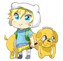 Finn and Jake by 50titans