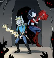 Fighting in the Cave by gmil123