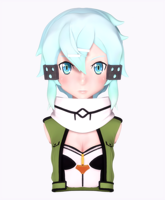 Sword Art Online II - Sinon by Poribo