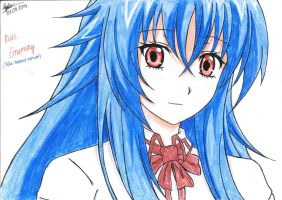 Rias Gremory (Blue-haired ver) by kevinkamondo