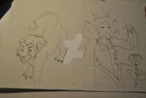 Outlines Disney ACEO by Unpassend