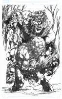 WeaponX and The Beast by jakebilbao