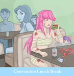 Convention Lunch Break by xxx-TeddyBear-xxx