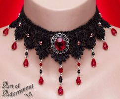Sanguine Courtesan Lace Choker by Valerian