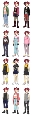 SF: Pip New Outfit Chart by pianobelt0