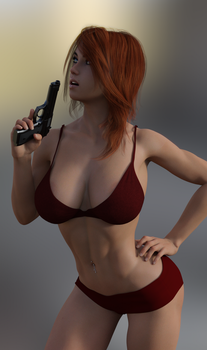 Cassidy with a gun by Sasha1378