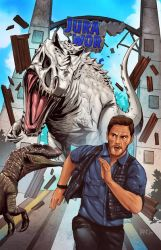 Commission Art: Jurassic World by paneseeker