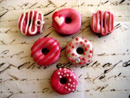 Pink Donut Magnets II by RoyalKitness