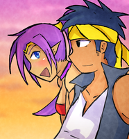 [Grimmelkin Request] Shantae and Bolo by ScaldingHotTea