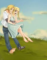 Barefoot in the grass by yoporock