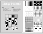 FREE - Manga Patterns by MissDidichan