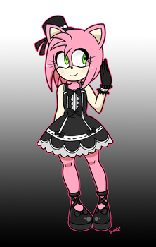 Amy Rose: Gothic Edition by YaySweets