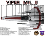 BSG Viper Mk II Top View Technical Callouts by viperaviator