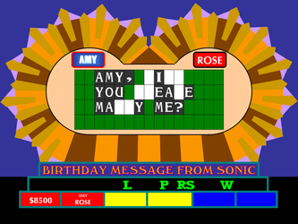 Amy's Birthday Message from Sonic by germanname