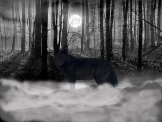 Dire Wolf by Ookami2000