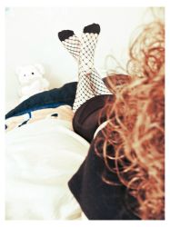 red curls and fishnets II by sataikasia