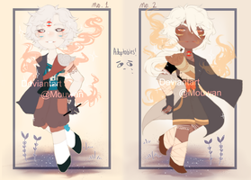 [Adoptables] 1/2 OPEN by mouwan