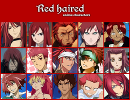 Red haired anime characters by jonatan7