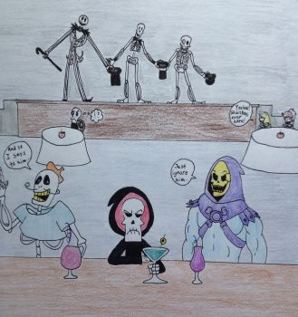 Skeleton Party by DarkGoth100