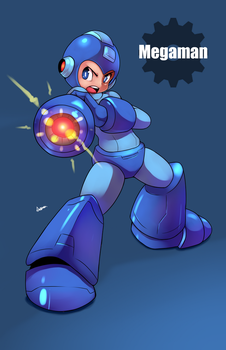 Megaman by AzureBladeXIII
